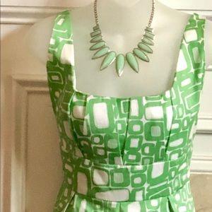 Calvin Klein pleated a-line Dress.